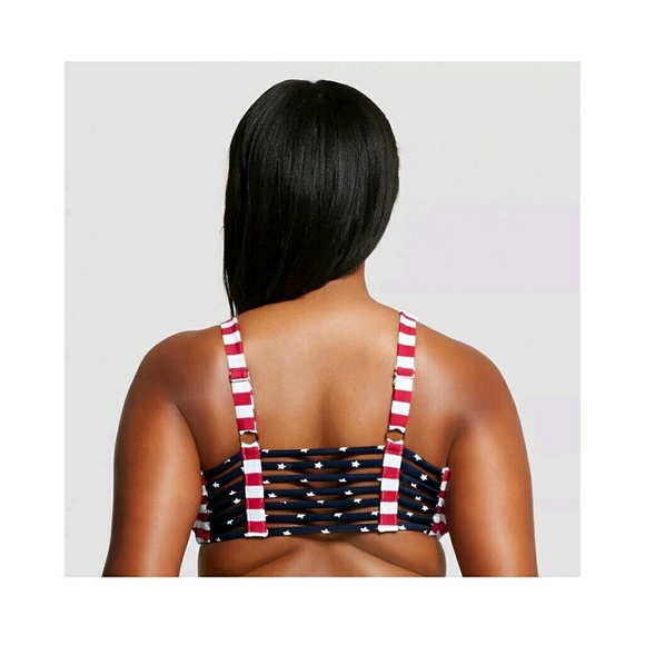 2541add81c8 Ava   Viv Swim Bikini Top Americana Stripes Stars